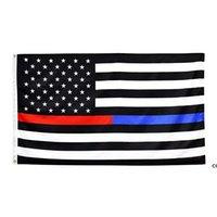 90 * 150cm Americana Bandeiras Azul Stripe Police Bandeira 8 Cores Estados Unidos Estrelas EUA EUA da América Dha6070