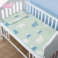 Bedding Sets Infant Shining Baby Set For Crib Cool Summer Mat Sleep Breathable With Pillow Sleeping