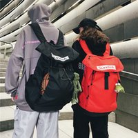 Basquete Bag Moda Moda marca carta 2021 Novo estilo coreano Oxford pano mochila homens e mulheres disponíveis estudante mochila maré de volta p