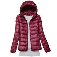 Women's Jackets Down Jacket Coat Women Parka Winter Outwear Ultralight Thin Warm White Duck Hooded Long Sleeve Female Portable Tops