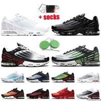 2021 TN Plus 3 Tuned Sneakers Mens Womens Run Shoes Trilpe 화이트 붉은 회색 og 검은 유령 녹색 스포츠 트레이너 테니스 신발