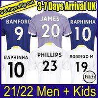 Leeds Soccer Jersey Unidos 21 22 T Roberts Harrison Hernandez Costa Bamford Alioski Clarke 2021 2022 Camisa de Futebol Uniformes Homens Kit Kit 77
