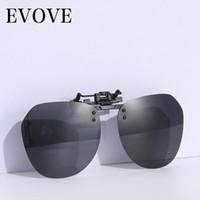 Evove كليب النظارات الشمسية المستقطبة الذكور النساء قصر النظر نظارات القيادة تناسب النظارات إطار مكافحة وهج البصرية