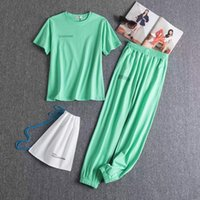 20ss Women's Tracksuits designer jogging wear clothing sportswear Summer pullover casual cotton short-sleeved trousers luxurious womens two piece sets