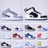 키즈 스니커즈 유아 유아는 공식적으로 35 주년 기념 D x J 1 High Og Wolf Grey Chicago PJ Tucker Kim Jones Shoes