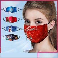 Altro Organizzazione Housekee Home Casa Gardenface Natale lavabile riutilizzabile fasion maschera viso per adds maschere per bambini a prova di polvere di foschia stampata Desig