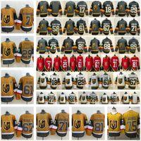 2021 retro retro VEGAS Dorado Caballeros 29 Marc-Andre Fleury 71 William Karlsson 61 Mark Stone 67 Max Pacioretty Red Gold Hockey de hielo Jerseys
