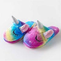 Kapcie jednoroża Dzieci Cartoon Animal Claw Onesies Pajama Baby Home Buty Chłopcy Dziewczyny Kobiety Dorosły Casual Cosplay 210325