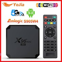 X96 Mini 5G TV Box Android 9.0 Amlogic S905W4 Quad Core A53 Dual Wifi H.265 4K 30fps Dual Wifi X96MINI