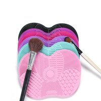 Makeup Brushes 1Pcs Silicone Brush Cleaner Pad Make Up Washing Gel Cleaning Mat Foundation Women Scrubber Board Tool