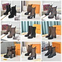 Martin Desert Boot Boot Cowboy Fahsion Boots Platform Womens Winter Boots Love Arrow 100% Натуральная кожа 5см каблука Flamingos Медаль Сверхмощные подошвы SOOSS008