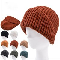 Solid Colour Knitted Hat Irregular Cut Hats Outdoor Colorful Warm and Thick Knit Cap 8 colors Fall Winter DD348