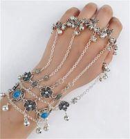 Charm Bracelets Women's Versatile Coin Tassel Bell Finger Bracelet Bohemian Travel