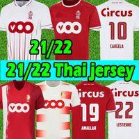 21/22 Estándar Liège Soccer Jersey Lestienne Amallah Edición Especial 100 años 2021 2022 VANHEUSDEN LAIFIS RASKIN CARCELA R.Standard De Lieja Camisetas de Fútbol Uniforme