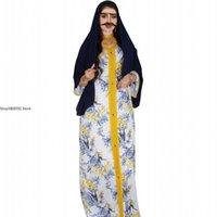 Ethnic Clothing Feather Floral Jalabiya Dubai Abaya Dress For Women Ramadan Eid 2021 Moroccan Turkey Arabic Muslim Islamic Clothes
