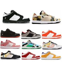Dunks SB Low Pro Qs Chunky Dunky Freddy Krueger Homens Mulheres Running Shoes Paris Strangelove Staple x Panda Muslin Sports Sneakers
