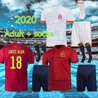 Adulto + Meias 20 21 Espanha Jerseys de futebol Morata Isco Asensio Thiago Koke Saul Carvajal Pique 2021 Camisa de Futebol