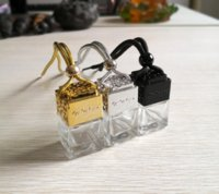 Essential Oils Diffuser Car Perfume Bottle Rearview Ornament Hanging Air Freshener Empty Glass Bottle Pendant T2I51747