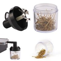 New product double interface electric tobacco grinder aluminum alloy automatic protable herb smoking grinder