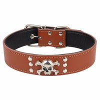 PipiFren Genuine Leather Spiked Big Dogs Collars Pets Supplies For Belt A Large Dog Necklace Collar Collier Chien Cuir & Leashes