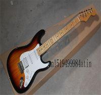 Standard Stratocaster HSS Electric Guitar Brown Sunburst w TKL