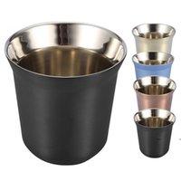 Coffee Cup Double Wall Stainless Steel Espresso Mugs 80ml Insulated Coffee Tea Cups Dishwasher Safe Easy Clean Coffee Mug EWD7048
