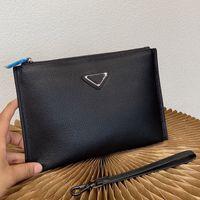 패션 남자 블랙 클러치 가방 Luxurys 디자이너 핸드백 고품질 핸드백 가죽 아트웍 지갑 지갑 동전 홀더 핸드백