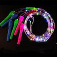 Cuerda Skipping Favor Favor Luminoso LED Colorido Luminou Flashing Ropes Fitness Equipos Noche Mercado Niños Juguetes para niños 2.7m HWF7120