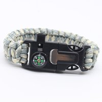 bracelet Seven core umbrella rope knife flint multi functional braided hand outdoor camping survival Bracelet