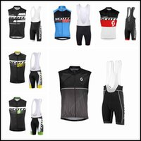 Scott Team Cyclings sin mangas Jersey Chaleco Pantalones cortos BIB Sets Thin Outdoor Bike Wear Cómodo Ropa deportiva transpirable Mans
