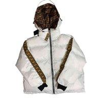 Зимняя мужская коротко вниз по куртке дизайнер одежда женские двусторонние печатные пальто с капюшоном FF хлопчатобумажная куртка мужчины высокое качество капюшона