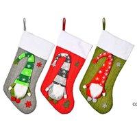 زينة عيد الميلاد محبوك رودولف تخزين الأطفال عطلة هدية الحلوى الوجبات الخفيفة حقيبة تغليف المنزل التسوق مول الديكور DHE8265