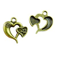 50pcs Charms Heart 23*21MM Antique Bronze Plated Jewelry Making Charm Fit Earring Necklace Bracelet Handcraft