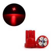 50pcs / lot 빨간색 쐐기 T10 W5W 1210 4SMD LED 자동차 전구 168 194 2825 클리어런스 램프 인테리어 돔 도어 번호판 조명 12V
