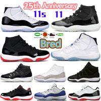 Yeni 11 XI Basketbol Ayakkabı Concord 45 Space Jam Platin Tonla Kazan gibi 96 Bred 11'leri Erkekler Kadınlar Sneakers Sports Eğitmenler