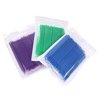 Makeup Brushes 500pcs lot Disposable Applicator Micro For Eyelash Extension Lash Cleaning Lip Brush Sticks Tools