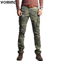 Vomint الرجال الأزياء العسكرية الجيش الجيش السراويل ضئيلة ريجالر مستقيم صالح متعدد الألوان التمويه الأخضر الأصفر V7A1P015