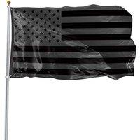 US Stock 3x5ft 흑인 국기 폴리 에스터 없음 4 분기 주어진 미국 역사적인 보호 배너 플래그 양면 실내 야외