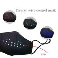 Nuovo LED Display Colorful Colourful Control Control Mask Musica di festa Voice Voice Maschera luminosa in cotone Cotone Vendita calda GWA4525