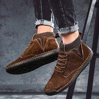 Bottes Travaux 2021 Chaussures de loisirs Sneakers Mens Hombre Bota Casual De Noir Sneaker Homme pour les mocassins de Para Botas Boot italien