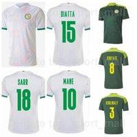 Hombres 2021 2022 Fútbol Senegal 10 Sadio Mane Jerseys 9 Famara DIEDHIOU 20 BADOU DIAYE 26 Kits de camiseta de fútbol de Koulibaly National Team Football