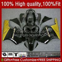 Injection Fairings For KAWASAKI NINJA ZX1200 ZX 12R 1200CC 1200 CC ZX1200C ZX 12 R 02-06 3No.13 ZX12R 02 03 04 05 06 ZX-12R 2002 2003 2004 2005 2006 OEM Body Kit golden black