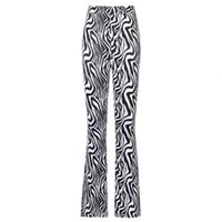 Women's Pants & Capris Flared Zebra Stripes Print Skinny Fashion Women High Waist Bell-bottom Trousers For Leisure