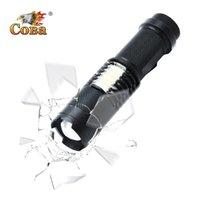 Coba Torch 18650 Batería con Luz de COB 6 Archivos con Clip T6 Zoom Senderismo Escalada Correr Linternas Antorchas