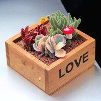 Vintage Wood Plant Pots Flowers Succulent Boxes Wooden Flower Garden Supplies Home Decoration Planters &