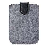Card Holders Canvas Universal Credit Case Portable Pouch Stick On Phone Back Holder Adhesive Wallet Coin Fashion Pocket