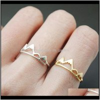 Band Fashion Mountain Ring Adjustable Size Rose Gold Plated Color For Women Ladies Girls Gift Rings Jewelry Drop Delivery 2021 Vhz9Q