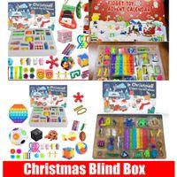 Hızlı Fidget Noel Kör Boxtoys 24 Gün Advent Takvim Paketi Anti Stres Oyuncaklar Kiti Duyusal Rölyef Figet Oyuncak Çocuklar Hediye CS14