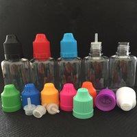 DHL 30 ML PET Plastik 3 Türleri İğne Şişesi için ECIG Vape Yağı E-Sıvı E-Suyu Depolama Yeniden Kullanımlanabilir Taşınabilir Konteyner Damlalık Şişeleri Renkli Childproof Caps