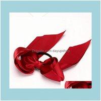 Оголовки ювелирные изделия ювелирные изделия знамены бутик бантики эластичные для девушки и женщины независимые ленты ленты галстук галстук веревка волос падение доставки 2021 ECWS